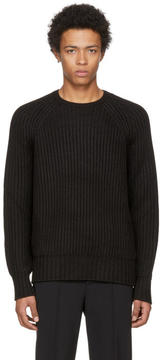 Neil Barrett Black Heavy Knit Sweater