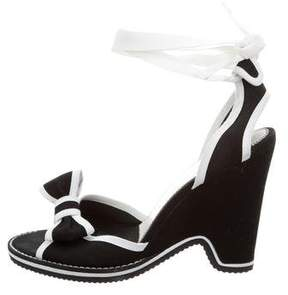 Marc by Marc Jacobs Canvas Wedge Sandals