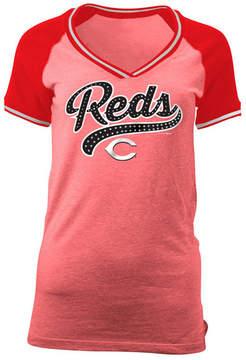 5th & Ocean Women's Cincinnati Reds Rhinestone Night T-Shirt