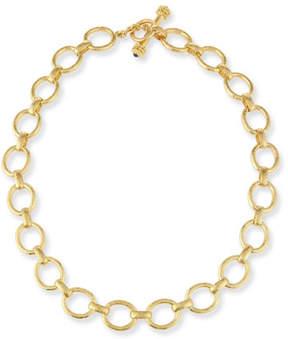 Elizabeth Locke 19K Gold Smooth Link Necklace, 17