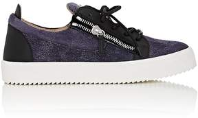 Giuseppe Zanotti Men's Suede & Leather Double-Zip Sneakers