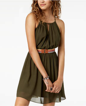 BCX Juniors' Belted A-Line Dress