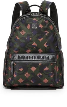 MCM Dieter Camo Nylon Backpack