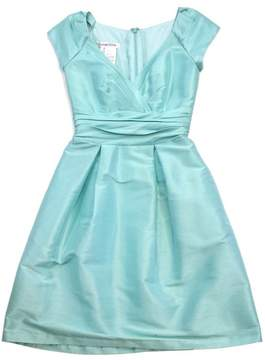 Alfred Sung Powder Blue Iridescent Cap Sleeve Dress
