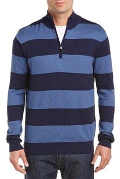 Qi Silk-blend Mock Neck 1/4-zip Sweater.