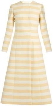 Emilia Wickstead Dominique striped wool-blend coat