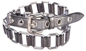Miu Miu Gunmetal Chain-Link Belt
