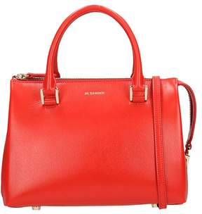 Jil Sander Crossbody Red Calf-skin Leather Bag