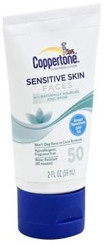Coppertone Sensitive Skin Faces Sunscreen Lotion - SPF 50 - 2oz