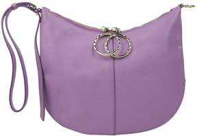 Nina Ricci Purple Leather Clutch Bag