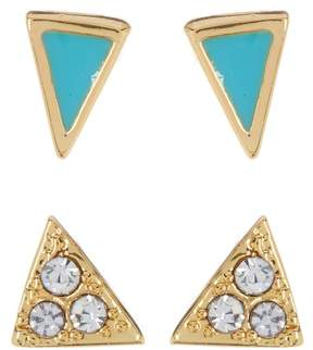 Ariella Collection Stud Earrings Set - Set of 2