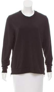 6397 Zip-Accented Crew Neck Sweatshirt
