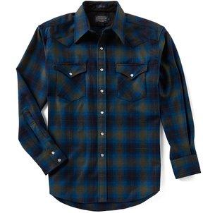 Pendleton Canyon Plaid Ombre Long-Sleeve Shirt