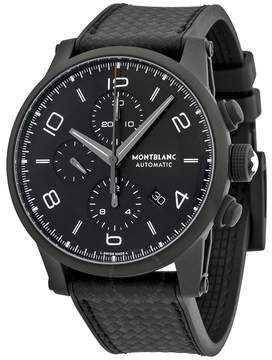 Montblanc Timewalker Extreme Chronograph Black Dial Black Leather Men's Watch