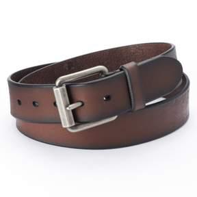 Levi's Levis Beveled Roller-Buckle Brown Leather Belt - Men