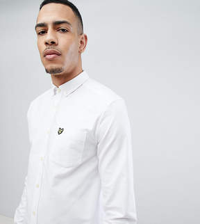 Lyle & Scott TALL Buttondown Logo Oxford Shirt in White