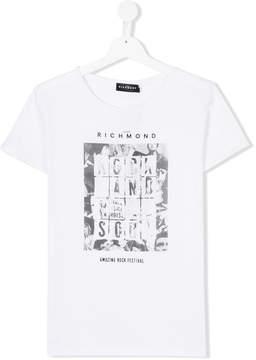 John Richmond Kids TEEN Rock and Roll print T-shirt