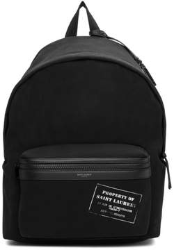 Saint Laurent Black Property of City Backpack