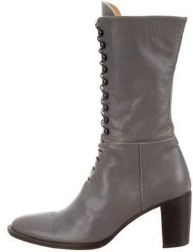 Burberry Leather Lace-Up Boots
