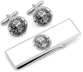 Ice Dartmouth College Cufflinks and Money Clip Gift Set