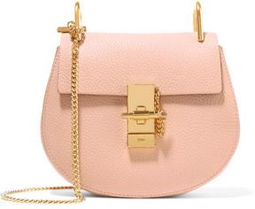 Chloé - Drew Mini Textured-leather Shoulder Bag - Blush