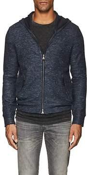 John Varvatos Men's Cotton-Linen Zip-Front Hoodie