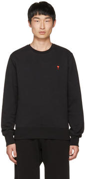Ami Alexandre Mattiussi Black Crewneck Sweatshirt