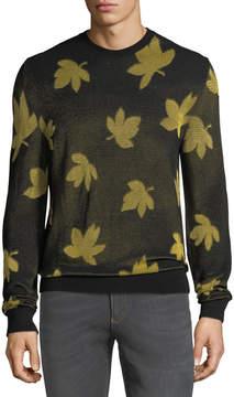Versace Versus Leaf-Pattern Sweater