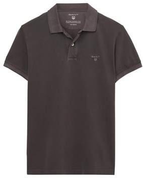 Gant Men's Grey/brown Cotton Polo Shirt.