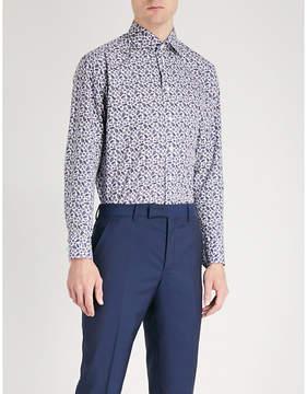 Eton Floral-print slim-fit cotton-poplin shirt