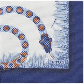 Eton Snake motif silk pocket square