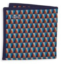 Eton Geometric-Print Pocket Square