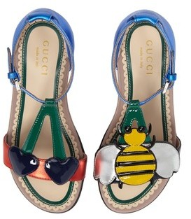 Gucci Toddler Girl's Bee Cerise Sandal