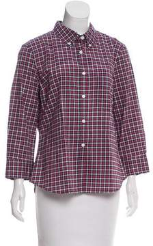 Boy By Band Of Outsiders Plaid Printed Button-Up Top