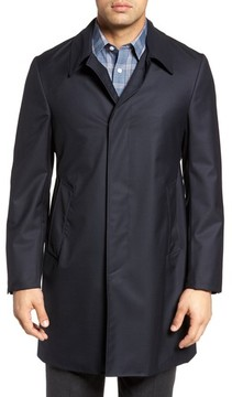 Hickey Freeman Men's Classic Fit Wool & Cashmere Traveler Topcoat