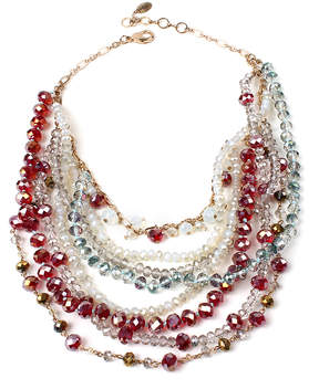 Amrita Singh Red & Goldtone Layla Layered Necklace