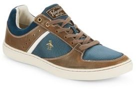 Original Penguin Two-Tone Leather Lace-Up Sneakers