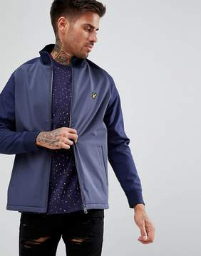 Lyle & Scott Funnel Neck Soft Shell Jacket In Navy