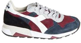 Diadora Heritage Men's Blue/red Leather Sneakers.