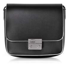 Emporio Armani Women's Black Leather Shoulder Bag.