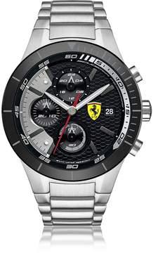 Ferrari RedRev Evo Silver Tone Stainless Steel Men's Chrono Watch