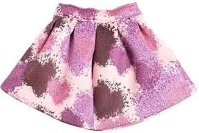 MSGM Printed Duchesse Round Skirt