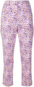 Blumarine cropped floral print trousers