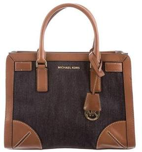 MICHAEL Michael Kors Denim Dillon Satchel