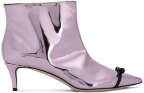 Marco De Vincenzo metallic effect boots