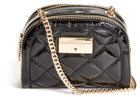 GUESS Luxe Quilted Mini Leather Camera Bag