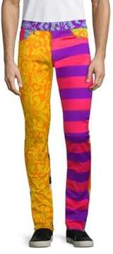 Moschino Fantasy Printed Striped Trousers