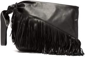 Isabel Marant Farwo Fringed Leather Bag - Womens - Black