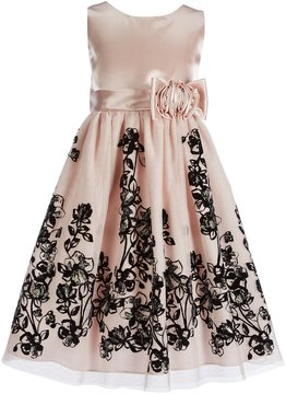 Jayne Copeland Big Girls 7-12 Floral Satin Dress