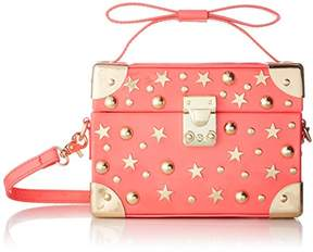 Betsey Johnson Don'T Box ME in Trunk TOP Handle Crossbody